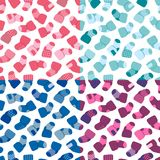Vector seamless pattern set for web design, prints etc. Repeating background with little socks can be copied without any Stock Image