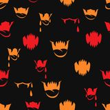 Vector seamless pattern with sharp teeth Royalty Free Stock Photo