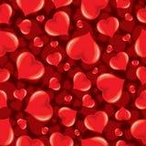 Vector Seamless Pattern with Shiny Hearts Royalty Free Stock Photo