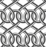 Vector seamless pattern of shower hoses. Seamless pattern of shower hoses. Vector illustration Royalty Free Stock Image