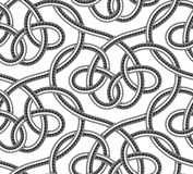 Vector seamless pattern of shower hoses. Seamless pattern of shower hoses. Vector illustration Royalty Free Stock Images