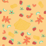 Vector seamless pattern. Shrovetide. Stock Photography