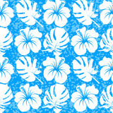 Vector seamless pattern with silhouette of tropical leafs Royalty Free Stock Photography