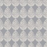 Vector seamless pattern with silhouettes of leaves. Pattern of leaves vintage style on a grey brown background. Vector seamless pattern with silhouettes of Stock Image