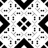 Black GEOMETRIC seamless pattern in white background Stock Photo