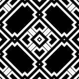 Black GEOMETRIC seamless pattern in white background Royalty Free Stock Photos