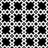 Black GEOMETRIC seamless pattern in white background royalty free illustration
