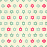 Vector seamless pattern with simple flat flowers Royalty Free Stock Photos