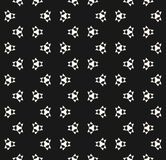 Vector seamless pattern with simple geometric figures, triangles. Sharp shapes. Abstract monochrome geometrical background texture, repeat tiles. Dark modern Royalty Free Stock Photos