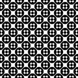 Vector seamless pattern, simple monochrome texture. Vector monochrome seamless pattern, simple minimalist texture with crosses & circles, smooth black & white Royalty Free Illustration