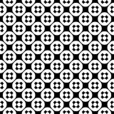 Vector seamless pattern, simple monochrome texture. Vector monochrome seamless pattern, simple minimalist texture with crosses & circles, smooth geometric Stock Illustration