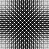 Vector seamless pattern, simple monochrome texture. Vector monochrome seamless pattern, simple minimalist texture with crosses & circles, smooth geometric Royalty Free Illustration