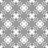 Black Geometric Seamless pattern in white background. Vector seamless pattern. Simple stylish abstract geometric background. Design for decor, prints, textile stock illustration
