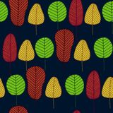 Vector seamless pattern with skeleton leaves stock photos