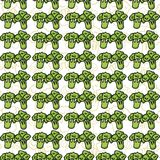 Vector seamless pattern of sketch broccoli. Royalty Free Stock Photography