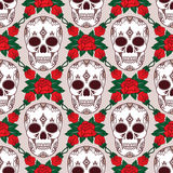 Vector seamless pattern with skulls Stock Image