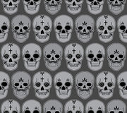 Vector seamless pattern with skulls Royalty Free Stock Image