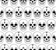 Vector seamless pattern with skulls Royalty Free Stock Images