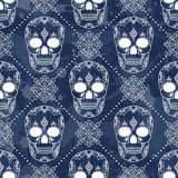 Vector seamless pattern with skulls. Stock Photography