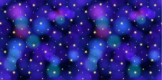 Vector Seamless Pattern: Sky with Stars, Colorful Background. royalty free illustration
