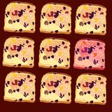 Vector seamless pattern, slices of bread Royalty Free Stock Photos