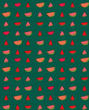Vector seamless pattern of slices  watermelon Royalty Free Stock Photo
