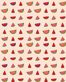Vector seamless pattern of slices  watermelon Royalty Free Stock Photography