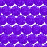 Abstract seamless pattern with small furry pompoms. Vector seamless pattern with small furry flowers or pompoms in blue bright color can be used for web, print Stock Image