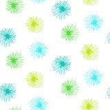 Vector seamless pattern with small furry flowers Royalty Free Stock Image