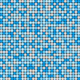 Vector seamless pattern of small smooth squares. Blue and beige ceramic tile mosaic. Minimalistic graphic print. Flat design. Vector color background vector illustration