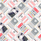 Vector Seamless Pattern Smartphone Royalty Free Stock Photo