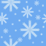 Snow. Vector seamless pattern, snow background stock illustration
