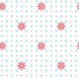 Vector seamless pattern with Snowflake elements. Vector seamless pattern with Christmas elements. Christmas and New year decoration. Winter background. Pattern Royalty Free Stock Photos
