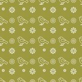 Vector seamless pattern with snowflakes and birds. Christmas and New Year 2019 background. Design for wrapping, fabric, print. Vector. Vector seamless pattern vector illustration