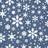 Vector seamless pattern with snowflakes Stock Photos
