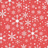 Vector seamless pattern with snowflakes Stock Images