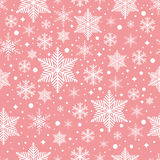 Vector seamless pattern with snowflakes Royalty Free Stock Photo