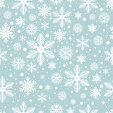 Vector seamless pattern with snowflakes Royalty Free Stock Image