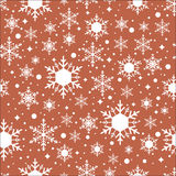 Vector seamless pattern with snowflakes Royalty Free Stock Images