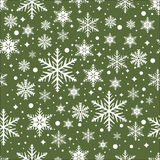Vector seamless pattern with snowflakes Stock Image