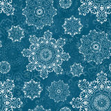Vector seamless pattern with snowflakes. Christmas decorative elements for winter design. Royalty Free Stock Image