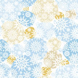 Vector seamless pattern with snowflakes, snowballs. Royalty Free Stock Photography
