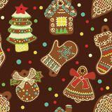 Vector Seamless Pattern Spice-cake Stock Images