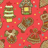 Vector Seamless Pattern Spice-cake Royalty Free Stock Photography
