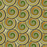 Vector seamless pattern from spiral elements. A background rich with a retro for a brown paper, backgrounds. Royalty Free Stock Images