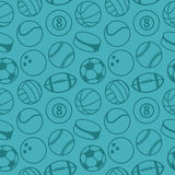 Vector seamless pattern with sport balls Royalty Free Stock Image