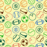 Vector seamless pattern with sport balls Stock Photo