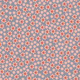 Vector seamless pattern with spring flowers Royalty Free Stock Image