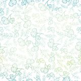 Vector seamless pattern with spring leaves pastel gradient. Background for fabric or book covers, manufacturing Stock Photography