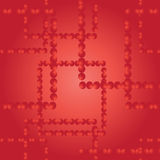 Vector seamless pattern. Squares from red balls. Stock Photography